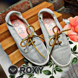 Roxy womens bayshore grey slip on sneakers 7.5